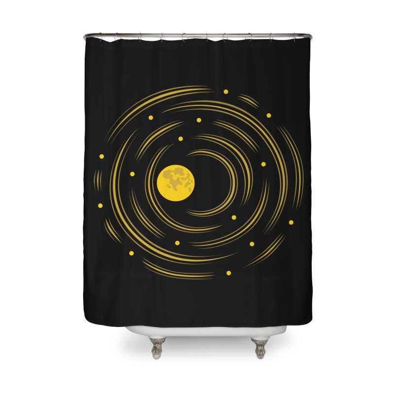Abstract Moon And Stars Dream Home Shower Curtain by Boriana's Artist Shop