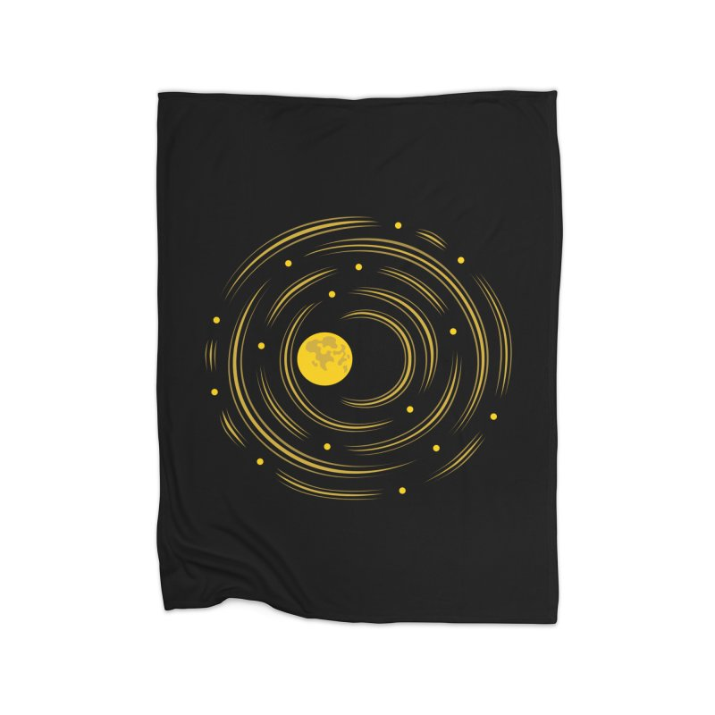 Abstract Moon And Stars Dream Home Blanket by Boriana's Artist Shop