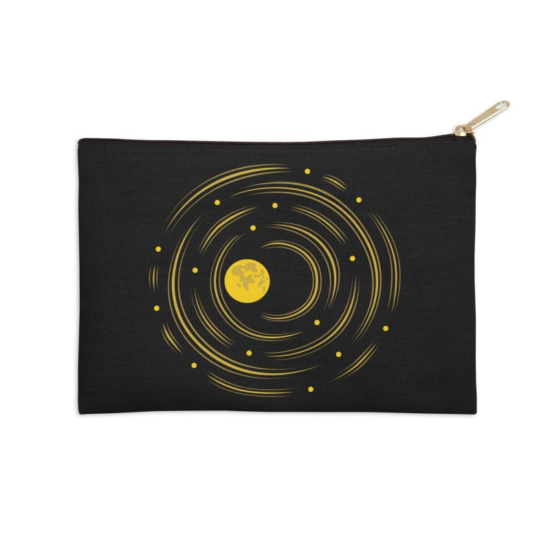 Abstract Moon And Stars Dream Accessories Zip Pouch by Boriana's Artist Shop