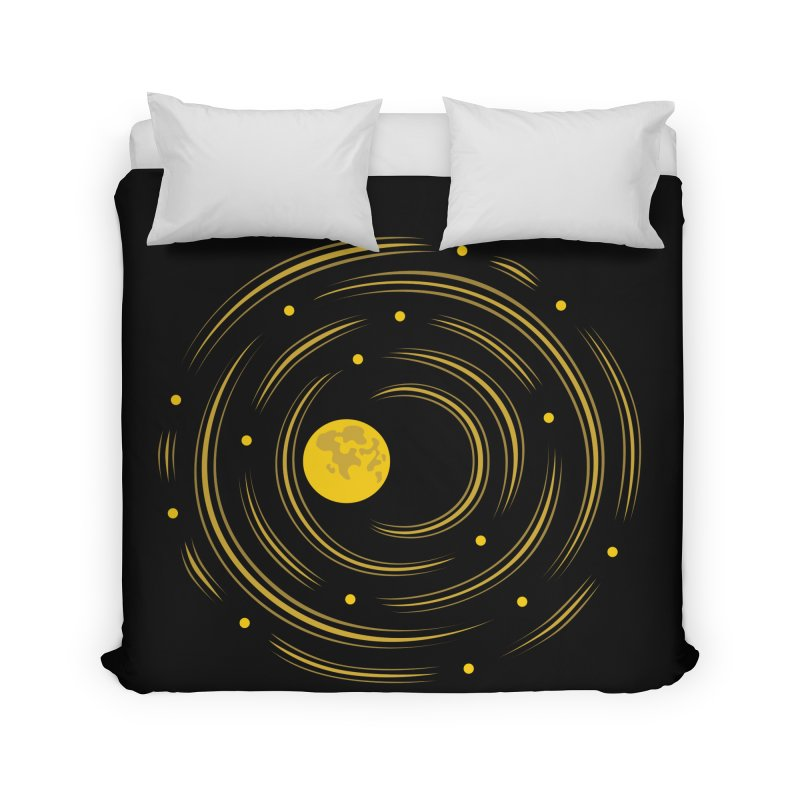 Abstract Moon And Stars Dream Home Duvet by Boriana's Artist Shop