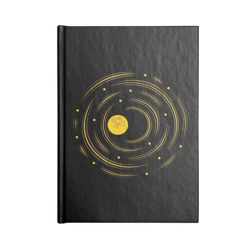 Abstract Moon And Stars Dream Accessories Notebook by Boriana's Artist Shop