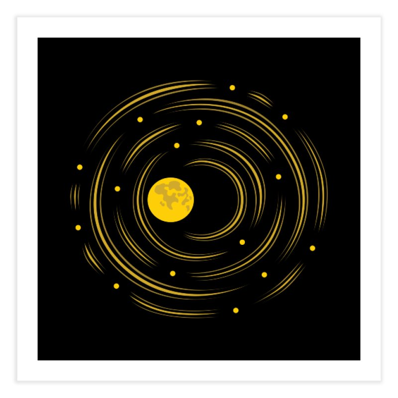 Abstract Moon And Stars Dream Home Fine Art Print by Boriana's Artist Shop