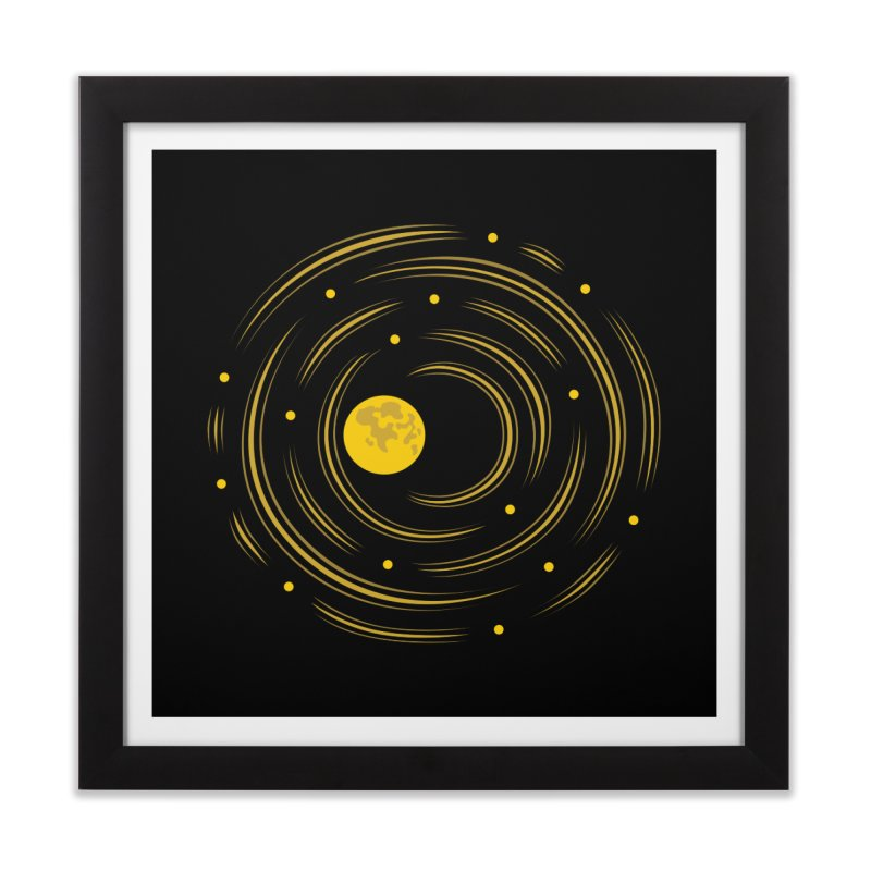 Abstract Moon And Stars Dream Home Framed Fine Art Print by Boriana's Artist Shop