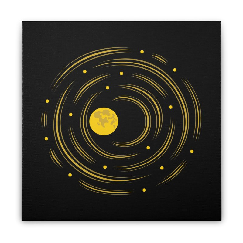 Abstract Moon And Stars Dream Home Stretched Canvas by Boriana's Artist Shop