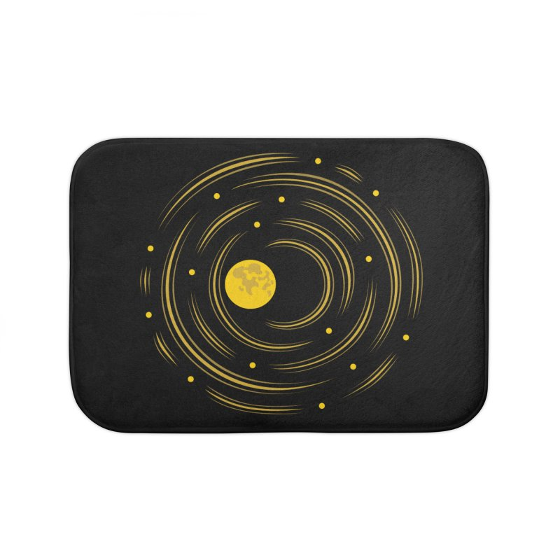Abstract Moon And Stars Dream Home Bath Mat by Boriana's Artist Shop