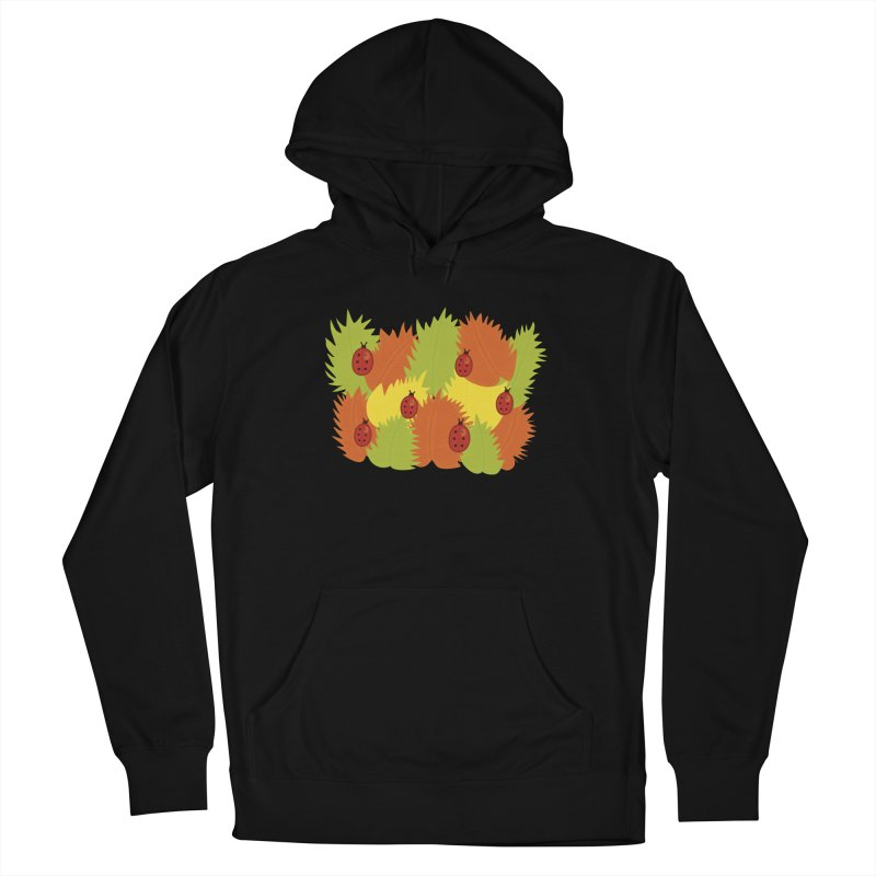 Autumn Leaves And Ladybugs Women's Pullover Hoody by Boriana's Artist Shop