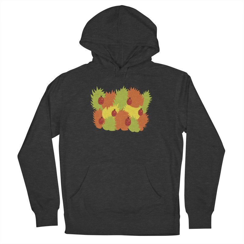 Autumn Leaves And Ladybugs Men's Pullover Hoody by Boriana's Artist Shop