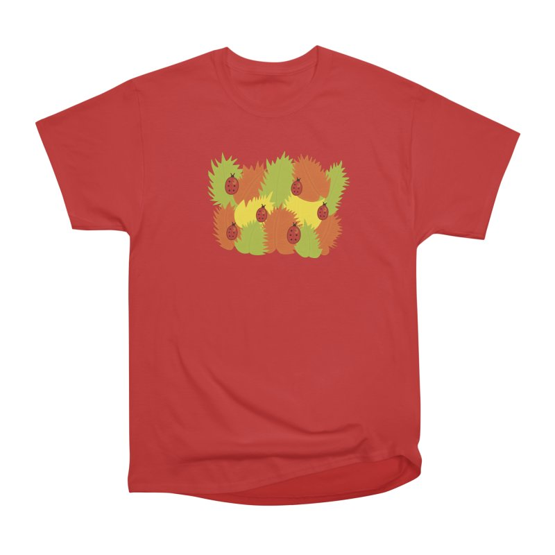 Autumn Leaves And Ladybugs Women's Classic Unisex T-Shirt by Boriana's Artist Shop