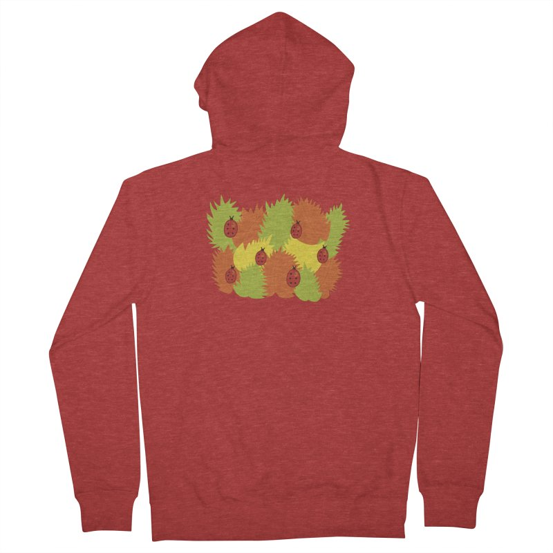 Autumn Leaves And Ladybugs Women's Zip-Up Hoody by Boriana's Artist Shop