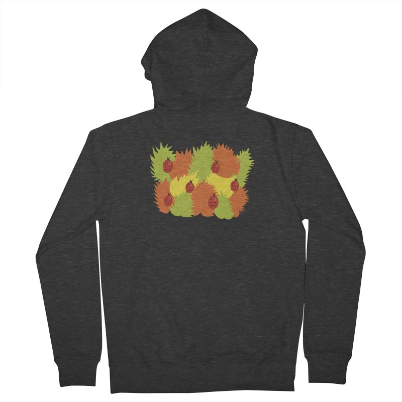 Autumn Leaves And Ladybugs Men's Zip-Up Hoody by Boriana's Artist Shop