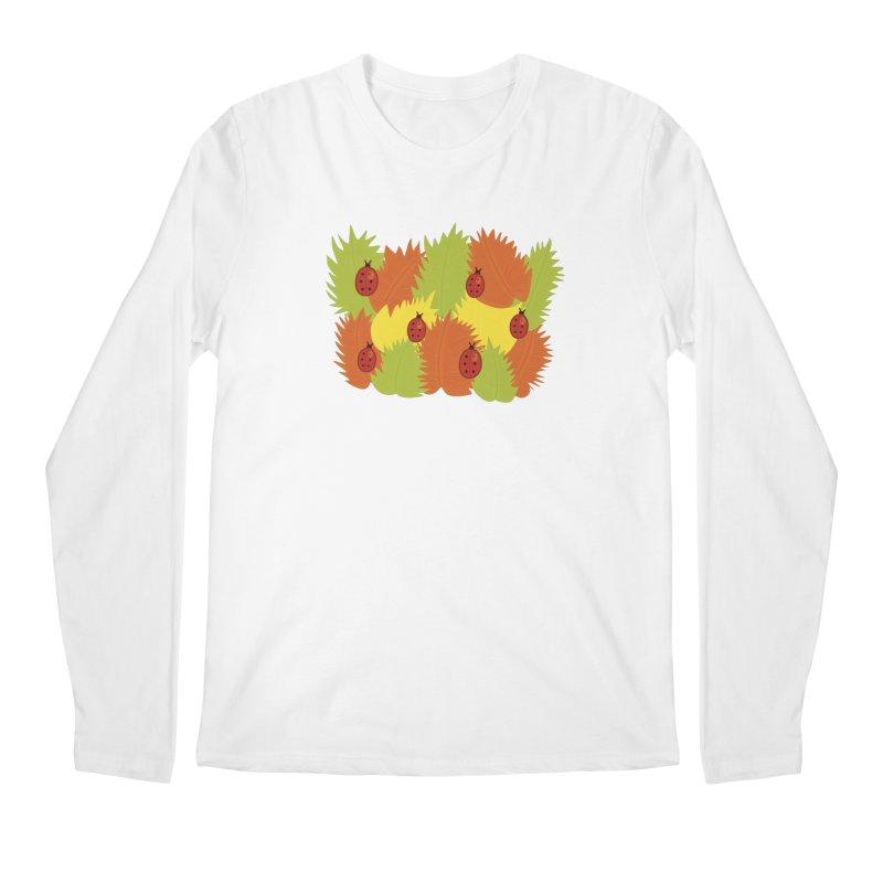 Autumn Leaves And Ladybugs Men's Longsleeve T-Shirt by Boriana's Artist Shop
