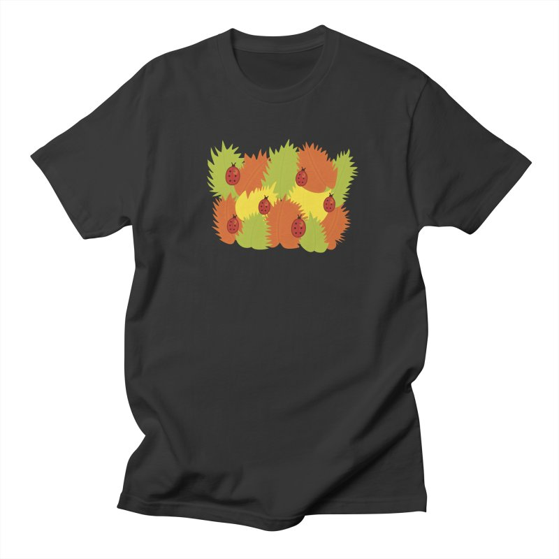 Autumn Leaves And Ladybugs Women's Unisex T-Shirt by Boriana's Artist Shop