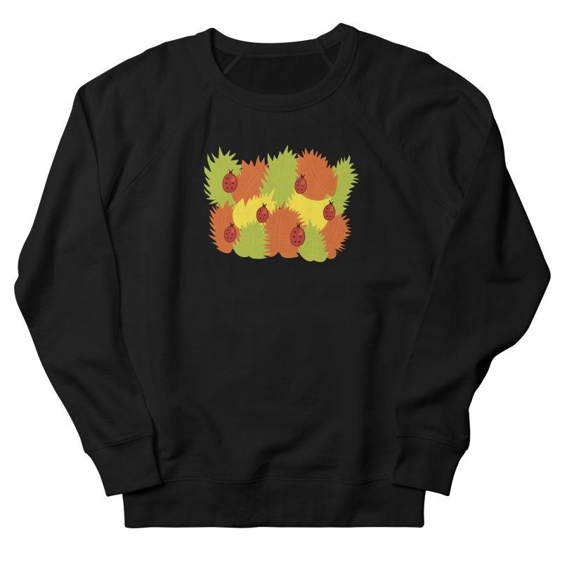 Autumn Leaves And Ladybugs Men's Sweatshirt by Boriana's Artist Shop