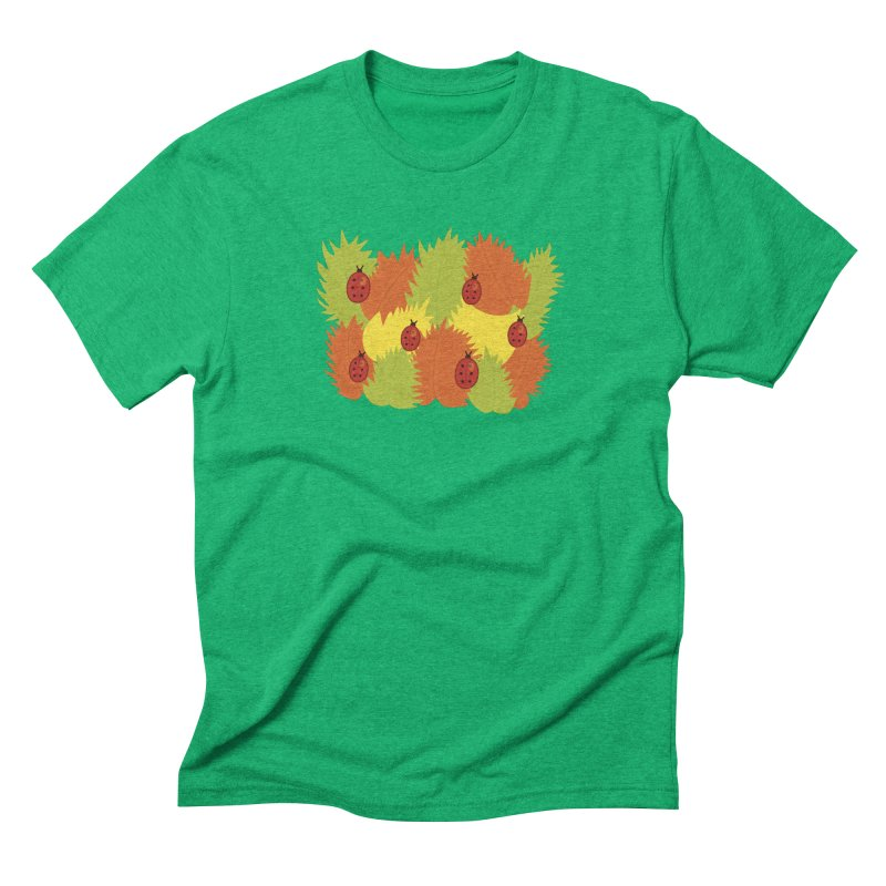 Autumn Leaves And Ladybugs Men's Triblend T-shirt by Boriana's Artist Shop