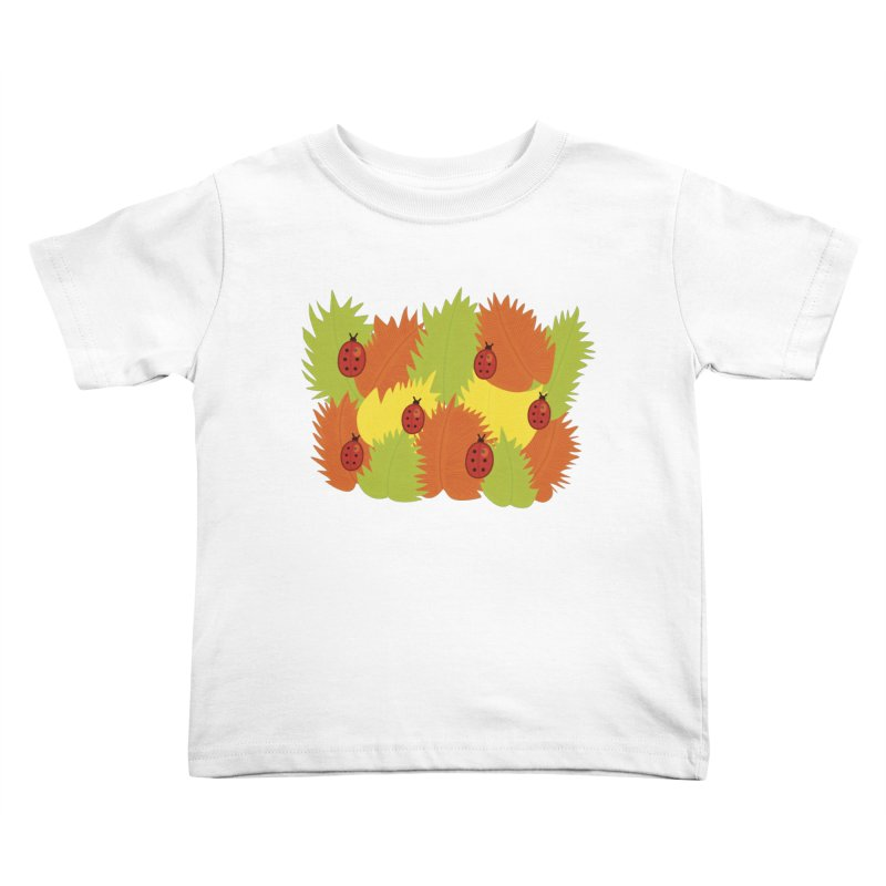 Autumn Leaves And Ladybugs Kids Toddler T-Shirt by Boriana's Artist Shop