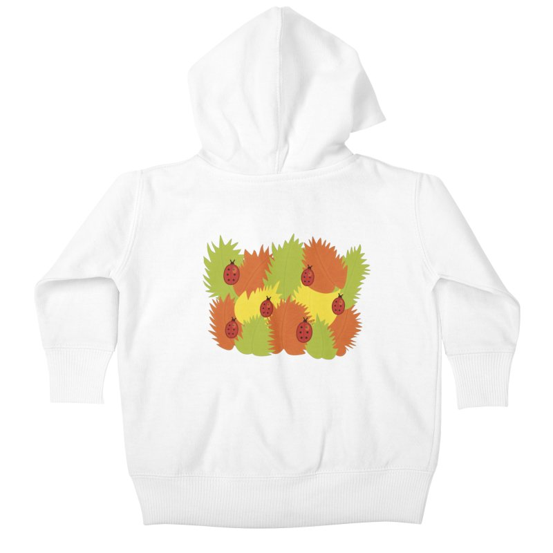 Autumn Leaves And Ladybugs Kids Baby Zip-Up Hoody by Boriana's Artist Shop