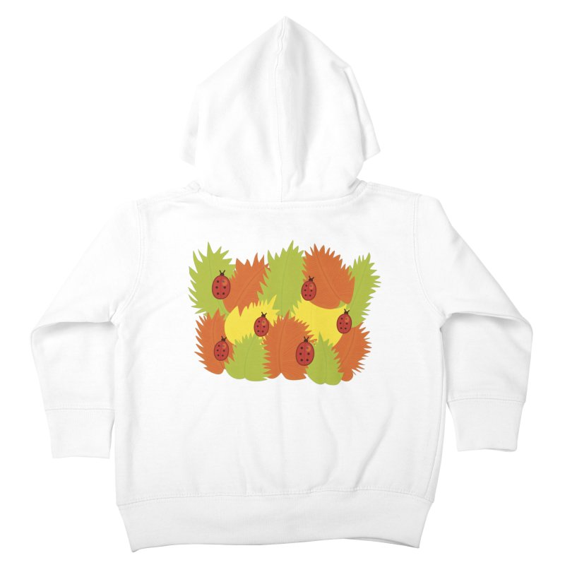 Autumn Leaves And Ladybugs Kids Toddler Zip-Up Hoody by Boriana's Artist Shop