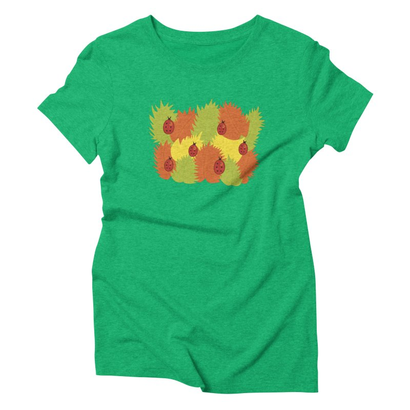 Autumn Leaves And Ladybugs Women's Triblend T-shirt by Boriana's Artist Shop