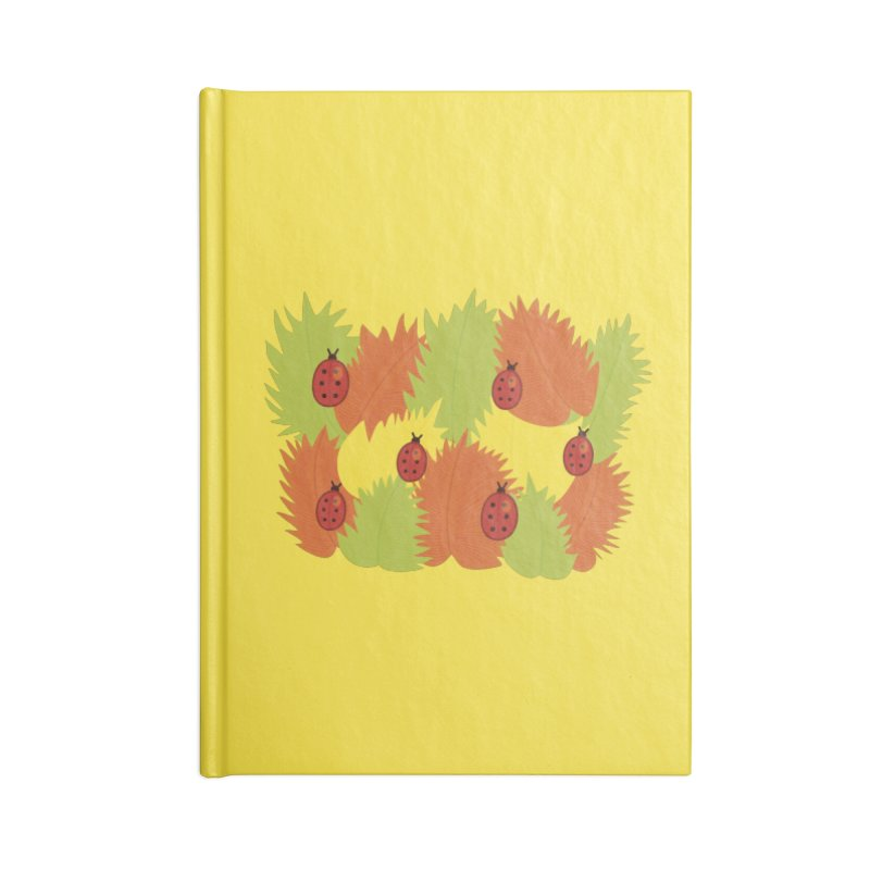 Autumn Leaves And Ladybugs Accessories Notebook by Boriana's Artist Shop