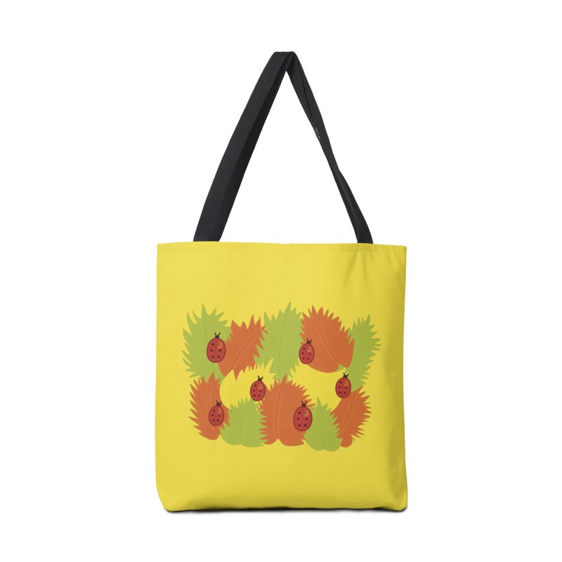 Autumn Leaves And Ladybugs Accessories Bag by Boriana's Artist Shop