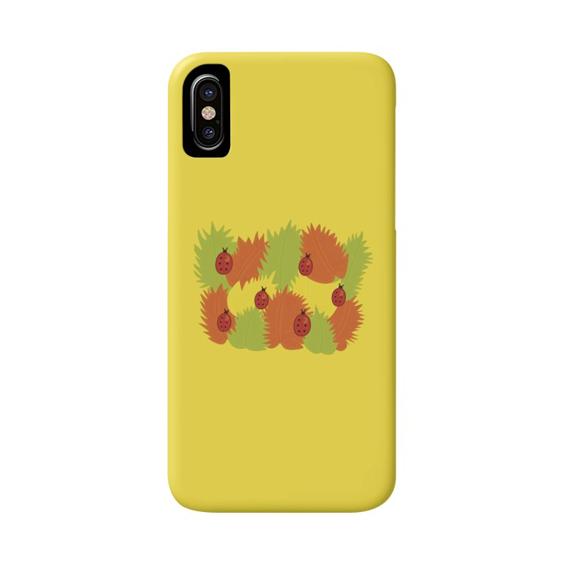 Autumn Leaves And Ladybugs Accessories Phone Case by Boriana's Artist Shop
