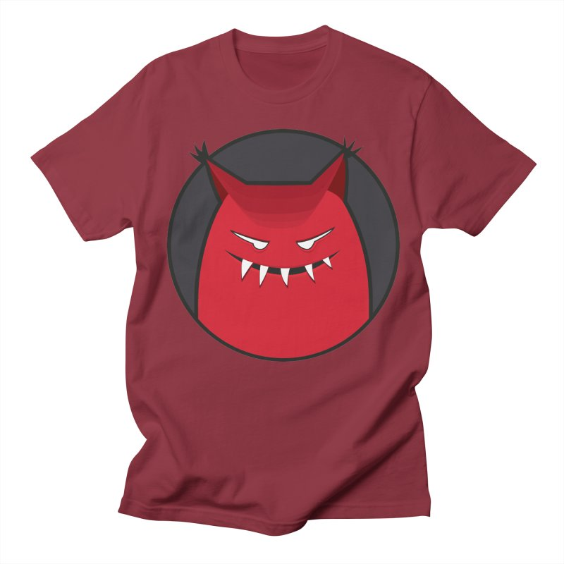 Evil Monster With Pointy Ears Men's T-shirt by Boriana's Artist Shop