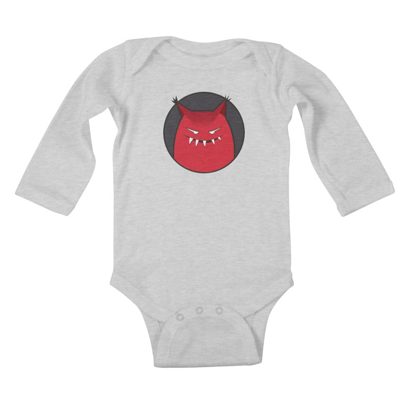 Evil Monster With Pointy Ears Kids Baby Longsleeve Bodysuit by Boriana's Artist Shop