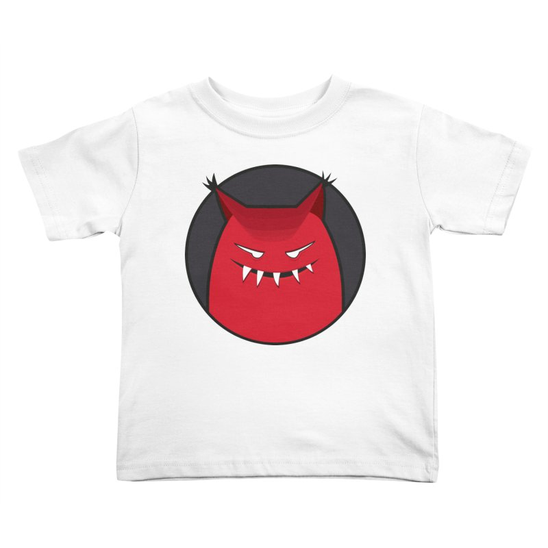 Evil Monster With Pointy Ears Kids Toddler T-Shirt by Boriana's Artist Shop