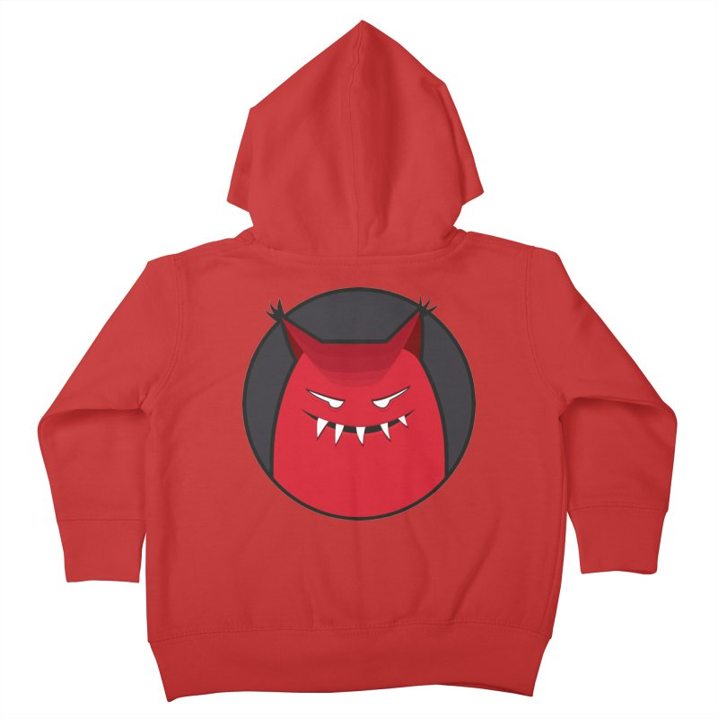 Evil Monster With Pointy Ears Kids Toddler Zip-Up Hoody by Boriana's Artist Shop