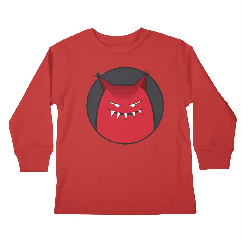 Evil Monster With Pointy Ears Kids Longsleeve T-Shirt by Boriana's Artist Shop
