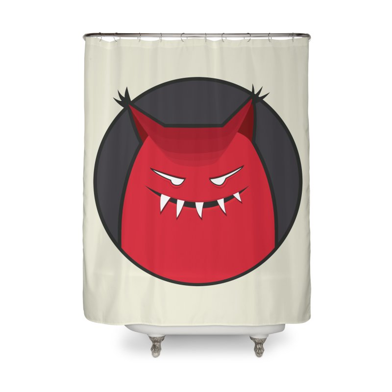 Evil Monster With Pointy Ears Home Shower Curtain by Boriana's Artist Shop