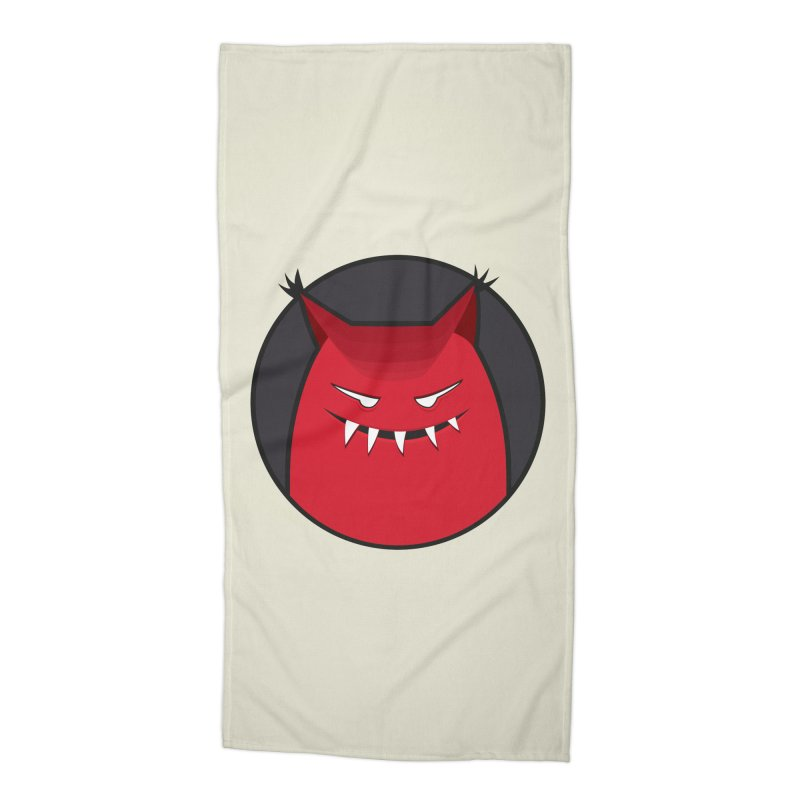 Evil Monster With Pointy Ears Accessories Beach Towel by Boriana's Artist Shop