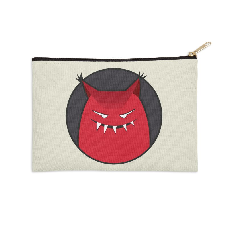 Evil Monster With Pointy Ears Accessories Zip Pouch by Boriana's Artist Shop