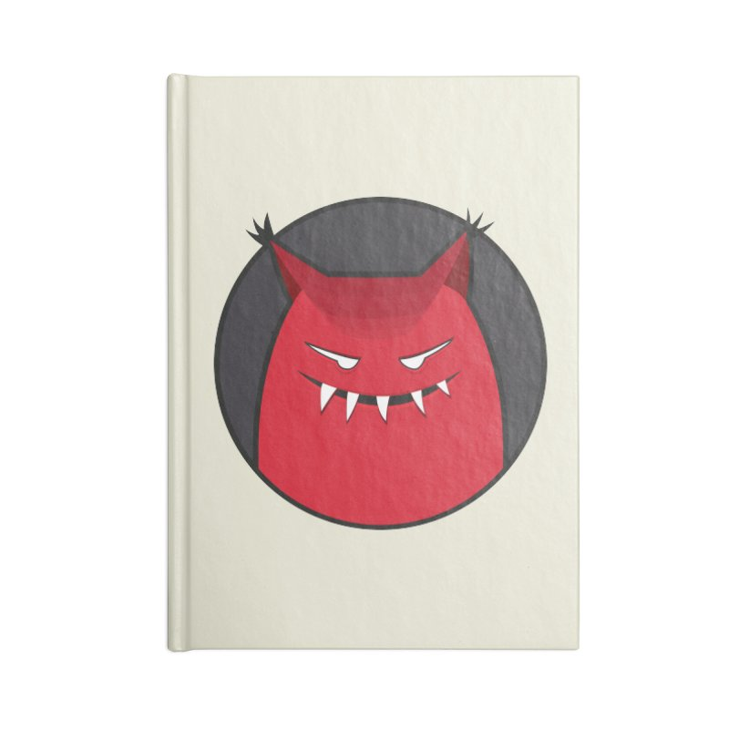 Evil Monster With Pointy Ears Accessories Notebook by Boriana's Artist Shop
