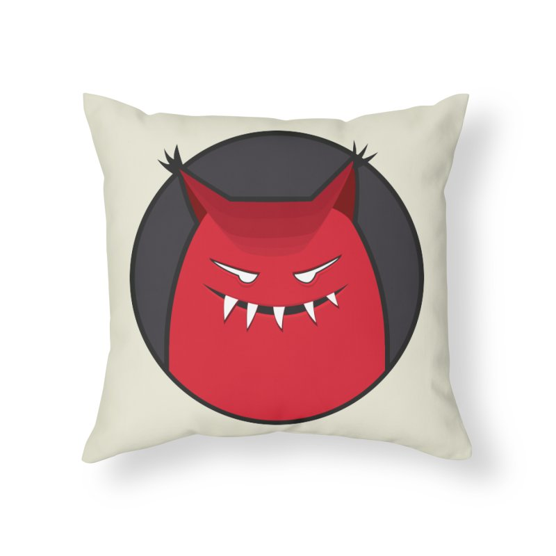 Evil Monster With Pointy Ears Home Throw Pillow by Boriana's Artist Shop