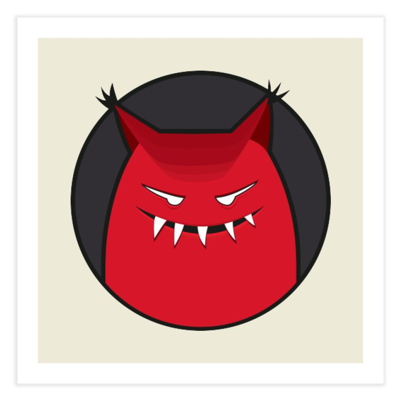 Evil Monster With Pointy Ears Home Fine Art Print by Boriana's Artist Shop