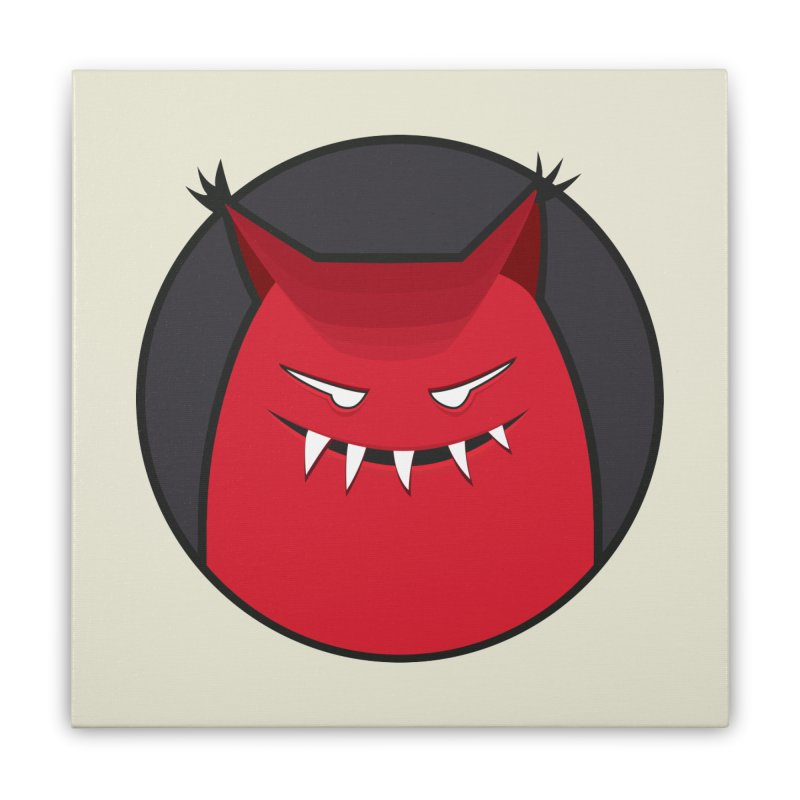 Evil Monster With Pointy Ears Home Stretched Canvas by Boriana's Artist Shop