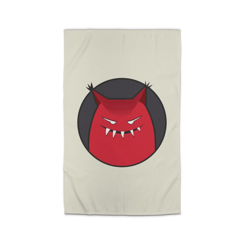 Evil Monster With Pointy Ears Home Rug by Boriana's Artist Shop