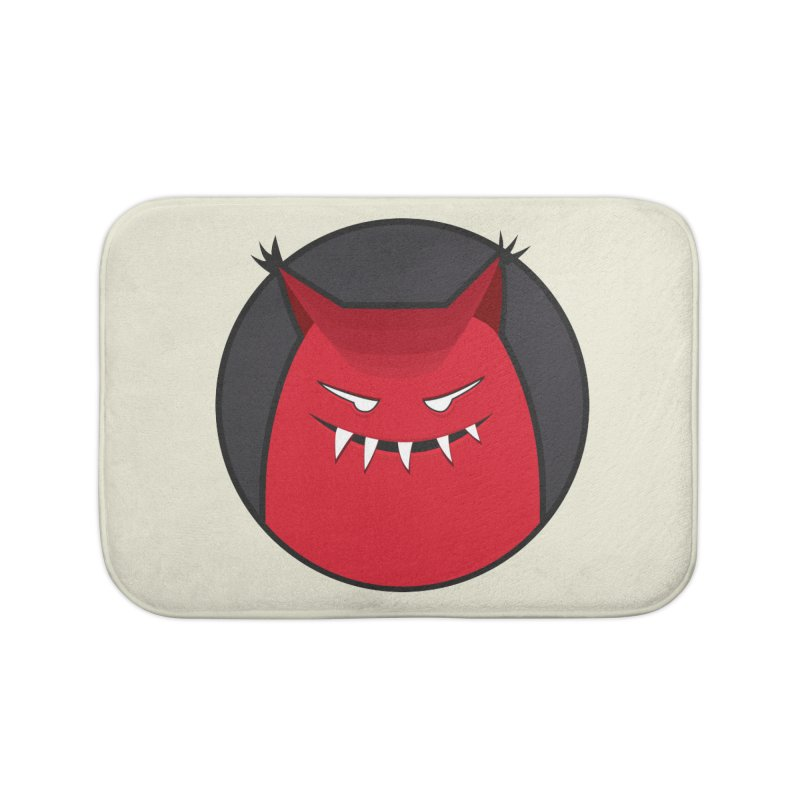Evil Monster With Pointy Ears Home Bath Mat by Boriana's Artist Shop
