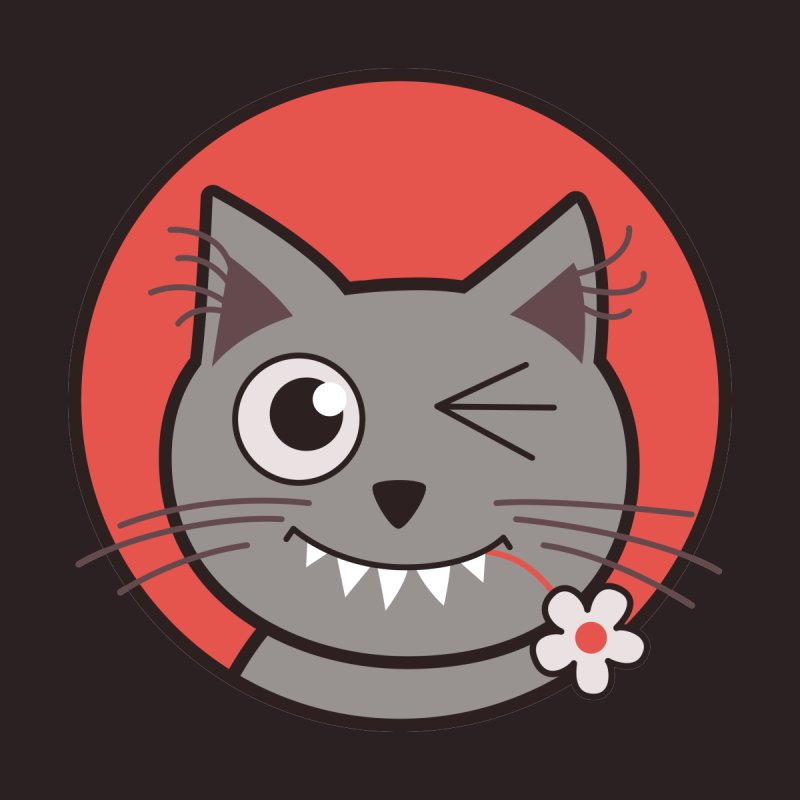 Winking Cartoon Kitty Cat by Boriana's Artist Shop