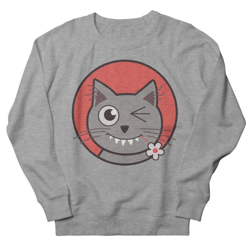 Winking Cartoon Kitty Cat Women's Sweatshirt by Boriana's Artist Shop