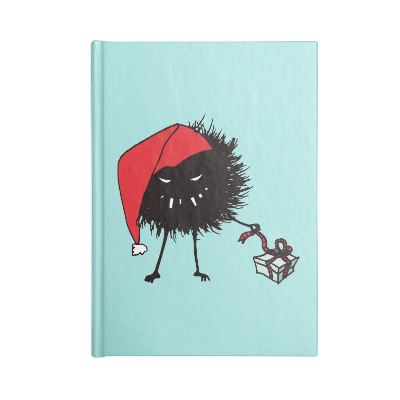 Evil Bug Unpacking Christmas Present Accessories Notebook by Boriana's Artist Shop