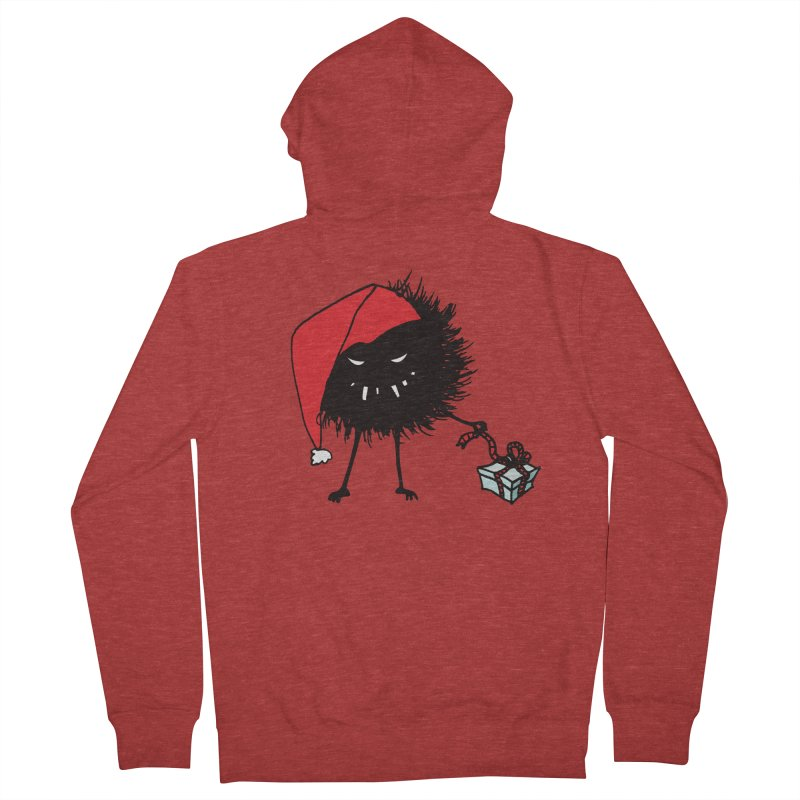 Evil Bug Unpacking Christmas Present Women's Zip-Up Hoody by Boriana's Artist Shop