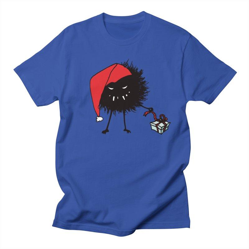 Evil Bug Unpacking Christmas Present Women's Regular Unisex T-Shirt by Boriana's Artist Shop