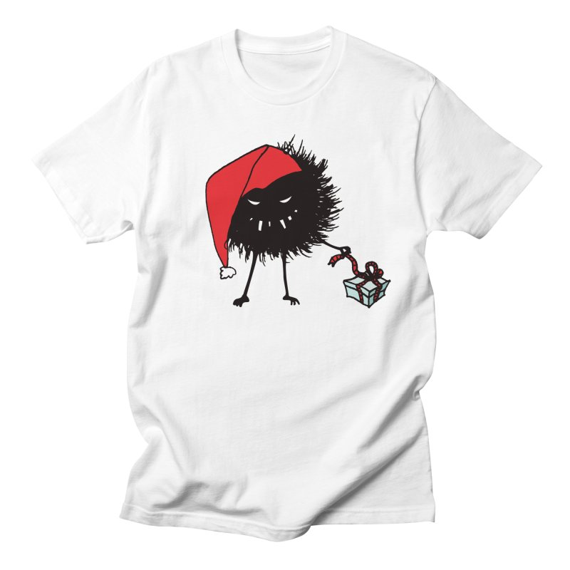 Evil Bug Unpacking Christmas Present Men's T-Shirt by Boriana's Artist Shop