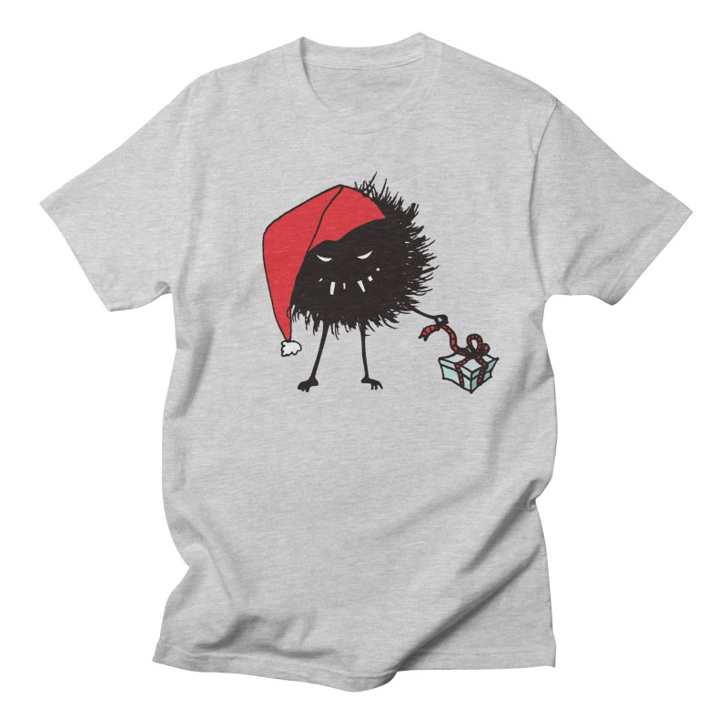 Evil Bug Unpacking Christmas Present Women's Unisex T-Shirt by Boriana's Artist Shop