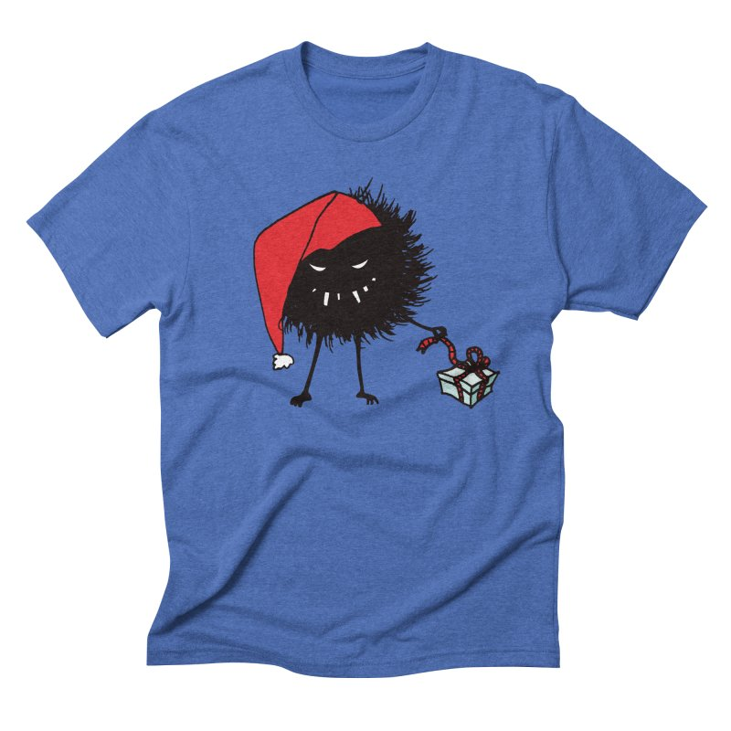 Evil Bug Unpacking Christmas Present Men's Triblend T-Shirt by Boriana's Artist Shop