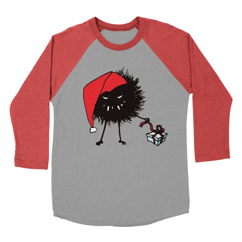Evil Bug Unpacking Christmas Present Women's Baseball Triblend T-Shirt by Boriana's Artist Shop