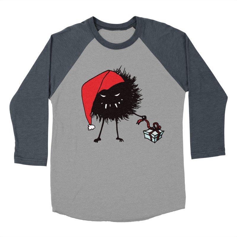 Evil Bug Unpacking Christmas Present Women's Baseball Triblend Longsleeve T-Shirt by Boriana's Artist Shop
