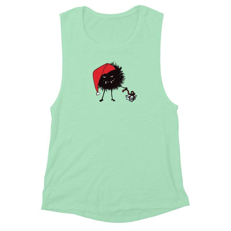 Evil Bug Unpacking Christmas Present Women's Muscle Tank by Boriana's Artist Shop